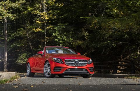 The 2018 Mercedes-Benz E400 Cabriolet comes with a twin-turbocharged 3.0-liter V6 making 329 hp.