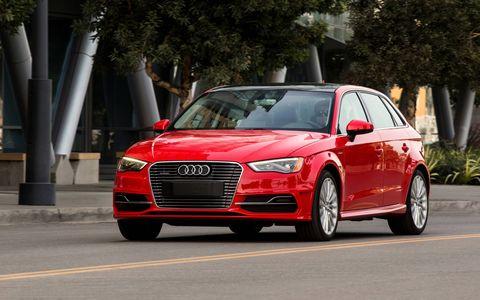 "Audi describes the A3 e-tron as, ""The first step toward an electric future."""