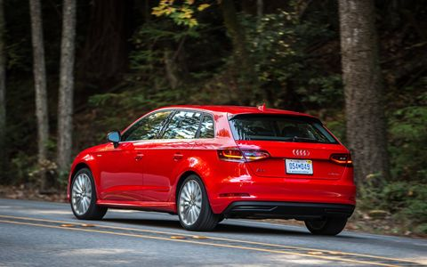 The Audi A3 e-tron is a plug-in hybrid electric vehicle.
