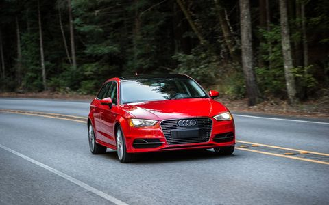 Power comes from a 1.4-liter TFSI four-cylinder mated to an electric motor. Both drive the front wheels.