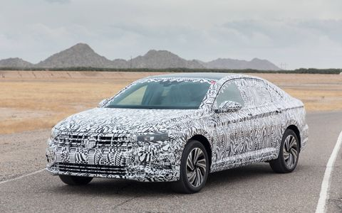 We drove the 2019 VW Jetta in prototype form around Volkswagen's Arizona Proving Grounds.