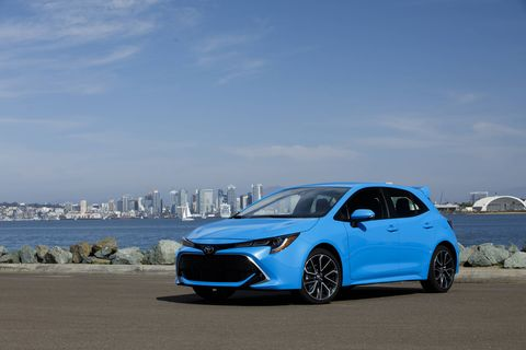 The 2019 Toyota Corolla hatchback comes with a small four-cylinder engine producing 168 hp.