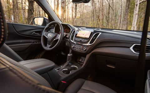 The Equinox has 39.7 inches of rear-seat legroom.