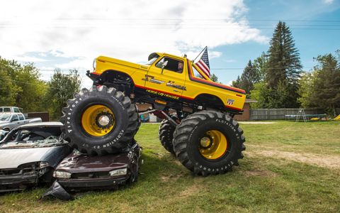 Paul Arft of Attica. Michigan, and his son Carl re-created the Showtime monster truck after Arft and the late Brian Shell originally built the truck in the early '80s.