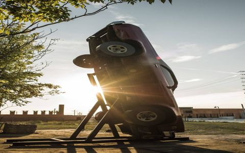 """""""Detroit Epitaph (Anthony's El Camino)"""" a sculptural installation by London-based artist, filmmaker and architect Anthony Gross, sits on the site of a former factory in Detroit's Eastern Market area."""