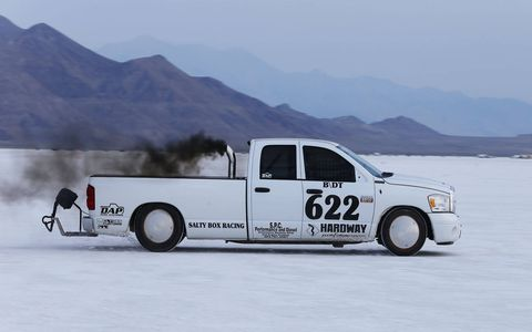 This 2008 Dodge Ram pickup set a Blown Diesel Truck record at 204.498 and gets street-driven in its hometown of Glenwood Springs, Colorado.