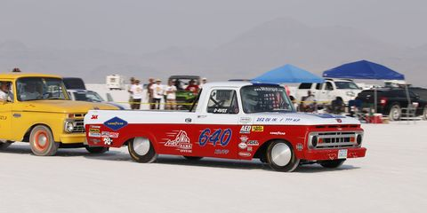 One of the best-looking race truck/push truck combinations of Speed Week.