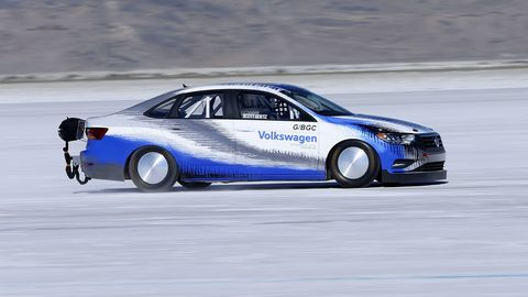 The 2019 Jetta is so aerodynamic that it will go well over 200 mph on 490 horsepower. With 600 horses available, Volkswagen may go for the car's maximum attainable speed next year.