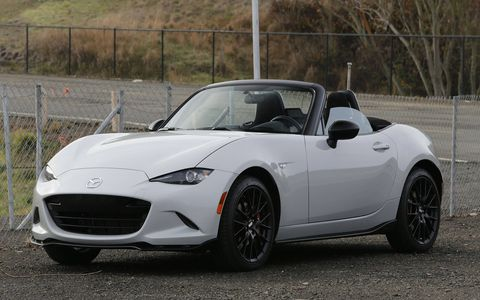 The new Miata's face is slightly less friendly than its predecessors, but it's nowhere near as hateful and angry-looking as most 21st-century cars.