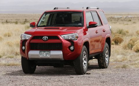 2015 Toyota 4Runner 4X4 Trail Premium V6 Front LH view