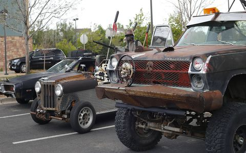 The winners of the Most Apocalyptic Vehicle contest.