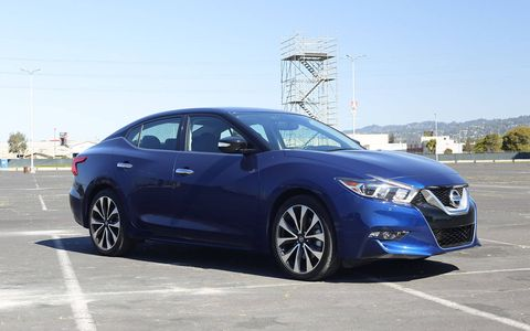 Even with 40-aspect-ratio tires, the Maxima SR's ride is quite comfortable.