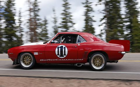 The world's fastest 1969 Chevy Camaro, driven by RJ Gottlieb, finished fourth in the PPC - Pikes Peak Open class.