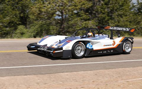Rhys Millen set the quickest time of the 2015 Pikes Peak International Hill Climb, reaching the summit in 9:07.222. In the process, he broke the all-time Pikes Peak EV record by nearly a second.