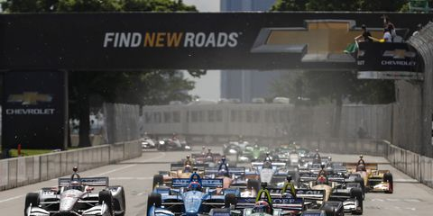 Sights from the IndyCar Chevrolet Detroit Grand Prix at Belle Isle Park Race 2 Sunday June 3, 2018.