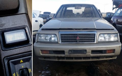 The Electronically Controlled Transmission switch looks very Toyota-like, but it came out of this extremely rare 1990 Mitsubishi Sigma sedan.