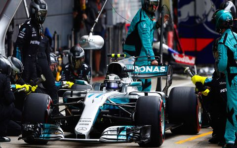 Valtteri Bottas roared from a ninth-place start to a runner-up finish.