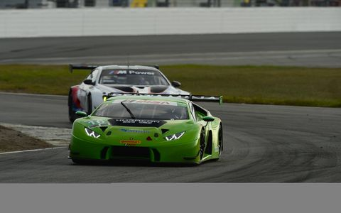 Lamborghini, Huracan, GTD from the first day of a two-day preseason test session held at Daytona International Speedway, Nov. 17-18.