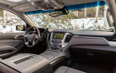 The 2018 Yukon Denali has 94.7 cubic feet of cargo space with all the seats down.