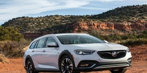 The Buick Regal TourX has a 2.0-liter turbocharged engine producing 250 hp and 295 lb-ft of torque.