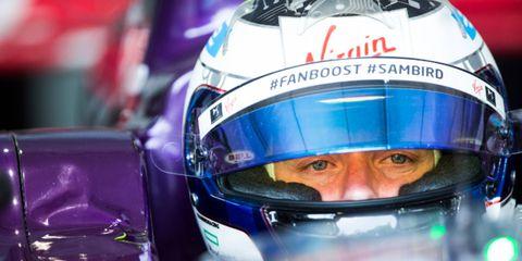 Sam Bird held of a surging Sebastien Buemi Saturday in Buenos Aires to win Saturday's Formula E race.