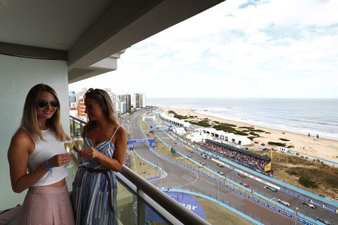 Sights from the action at the Formula E Punta del Este ePrix, Saturday, March 17, 2018.
