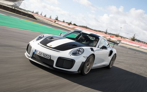 2018 Porsche 911 GT2 RS in action at Algarve International Circuit in Portimao, Portugal