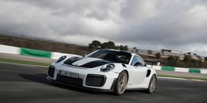 2018 Porsche 911 GT2 RS in action at Agarve International Circuit in Portimao Portugal