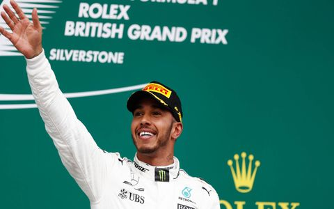 Lewis Hamilton rolled to his fifth win of the season on Sunday at Silverstone