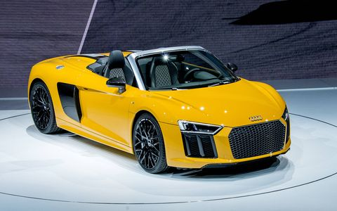 The Audi R8 Spyder made its debut at the New York auto show this week.