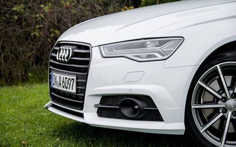 The front fascia of the Audi A6 2.0 TFSI has been updated.