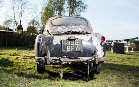 This 1957 Aston Martin DB2/4 MkII Sports Saloon is estimated to bring between between $65,000 and $91,000, and will need some work.