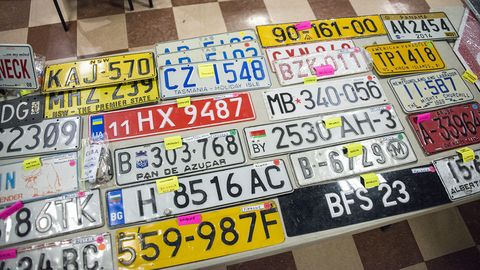 Collectors bring their plates to sell and to trade.
