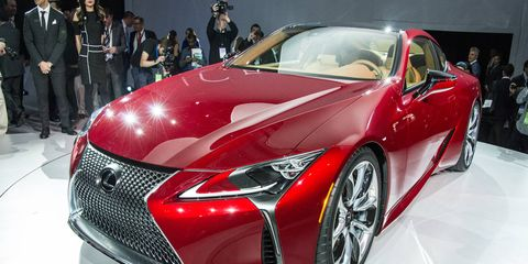 The LC500 arrives in 2017 with a 5.0-liter V8 underhood.