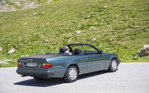 Mercedes had a first-generation E-Class Cabriolet on hand to test against the new model