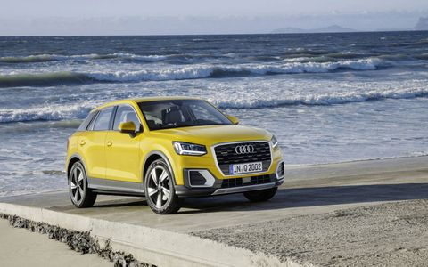 The Audi Q2 debuted at the Geneva motor show, ahead of a European launch later in the year.