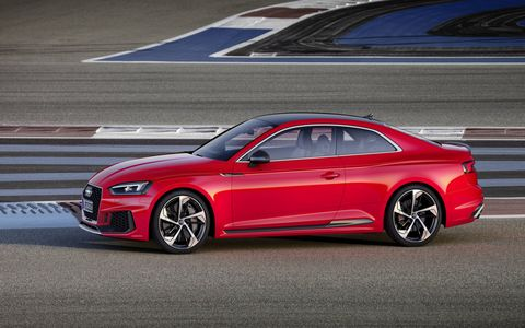 The Audi RS5 coupe makes 450 hp and 443 lb-ft of torque.