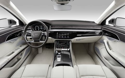 The Audi A8 features level three autonomous driving, meaning it can completely take over under 37 mph.
