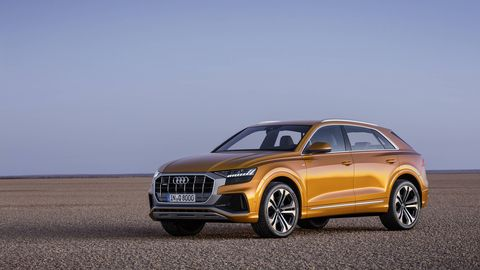 The Audi Q8 is the brand's new full-size SUV, a sibling to the Q7 but wider, shorter and lower.