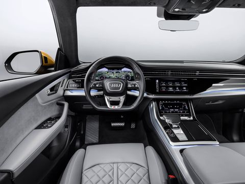 Inside the new Audi Q8 luxury SUV, a sibling to the larger Q7 three-row utility