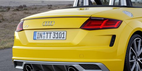 For 2019, Audi refreshed its TT's styling -- making it a more aggressive-appearing sports machine.