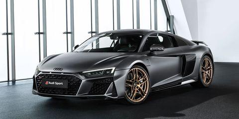 The Audi R8 V10 Decennium delivers 620 hp from its 5.2-liter V10.