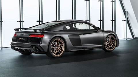 The Audi R8 V10 Decennium delivers 620 hp from its 5.2-liter V10.