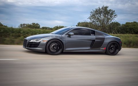 AMS outfits the R8 V10 with twin turbochargers, increasing output to nearly 1,000 hp.