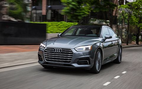 The A5 Sportback expands Audi's lineup with a four-door coupe with frameless doors and plenty of cargo room under the rear glass hatch.