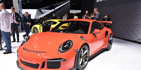 The 911 GT3 RS gets some extra bodywork over the standard 911, in addition to that giant adjustable rear wing.