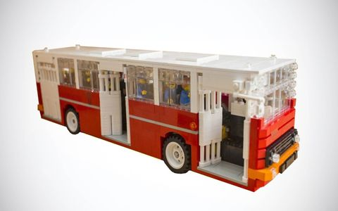 This Ikarus 260.04 has been reproduced in Lego in 1:25 scale, enough to fit the 22 prescribed figures inside.