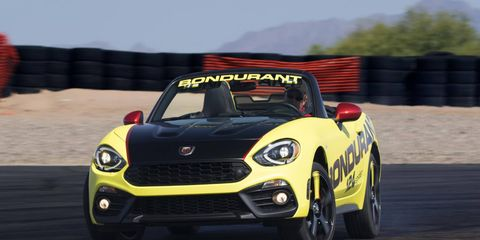 Getting the most out of the Fiat 124 Spider Abarth will be a little easier thanks to the Bondurant school.