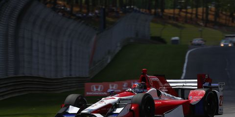Marco Andretti put down the fastest lap of the day Friday, 1 minute, 7.7134 seconds (122.280 mph).