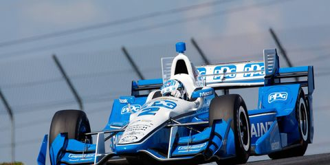 Josef Newgarden has a seven-point lead on teammate Helio Castroneves with four races remaining on the 2017 Verizon IndyCar Series schedule.